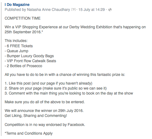 How to successfully run a Facebook Competition | Advertisers