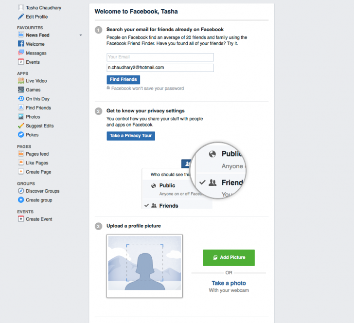 How to Quickly Create Your Own Facebook Profile (for Business Page